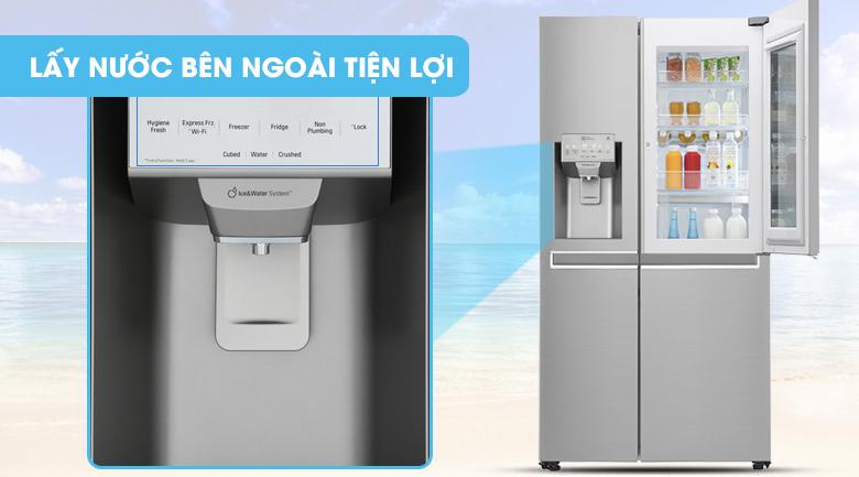 Tủ lạnh LG Door-in-Door 601 lít GR-X247JS Inverter InstaView, lấy nước ngoài tiện lợi