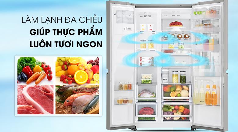 Tủ lạnh LG Door-in-Door 601 lít GR-X247JS Inverter InstaView, làm lạnh đa chiều
