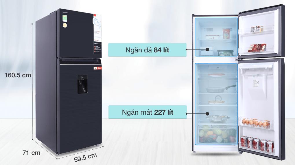 Tủ lạnh Toshiba GR-RT395WE-PMV(06)-MG inverter 311 lít, sang trọng