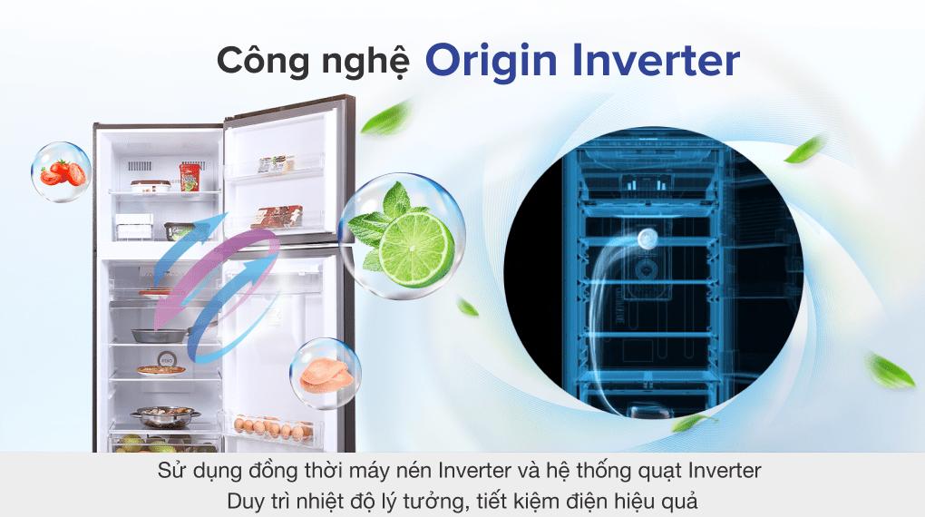 Tủ lạnh Toshiba GR-RT395WE-PMV(06)-MG inverter 311 lít, tiết kiệm điện