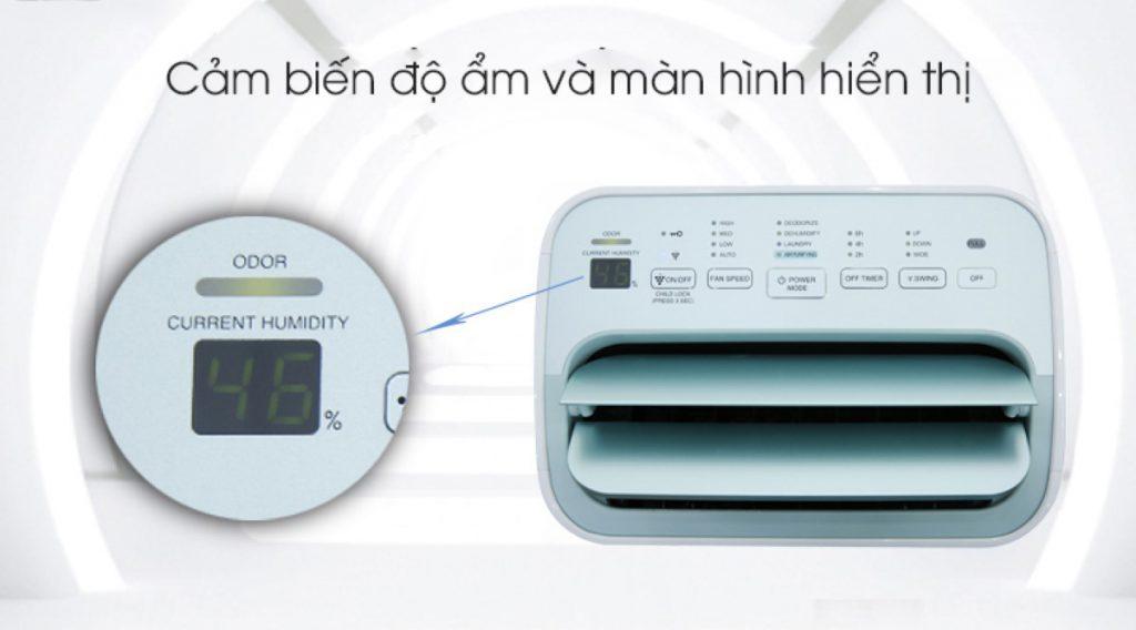 Máy lọc không khí hút ẩm Sharp DW-E16FA-W, cảm biến độ ẩm