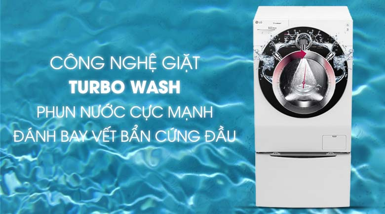 Công nghệ Turbo Wash trên máy giặt LG