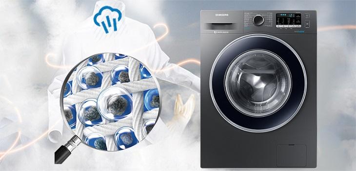 Công nghệ giặt hơi nước Steam Cycles máy giặt Samsung