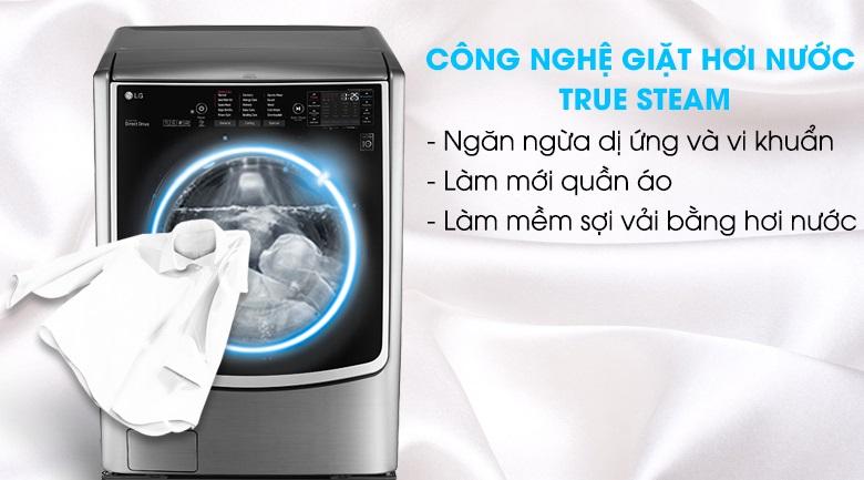 Công nghệ giặt hơi nước True Stream máy giặt LG