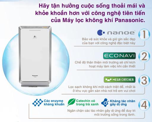 Công nghệ lọc khí trên Panasonic