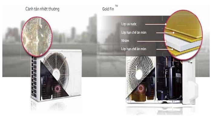 Điều hòa âm trần LG dàn tản nhiệt chống ăn mòn