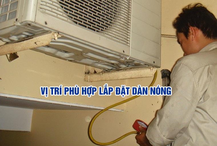 Kết nối ống đồng từ dàn lạnh ra dàn nóng
