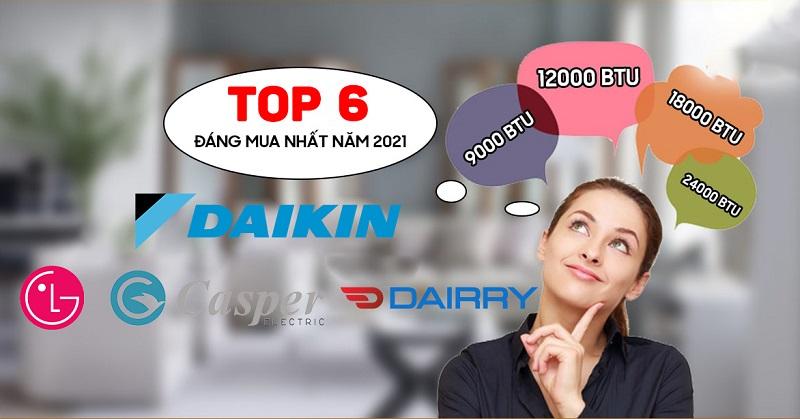 Top 6 sản phẩm điều hòa 9000btu giá rẻ đáng mua hiện nay