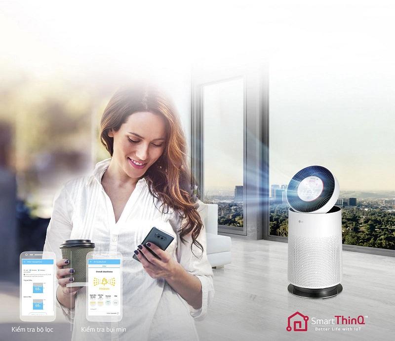 máy lọc không khí LG Kết nối và điều chỉnh thông minh