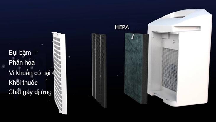 Máy lọc không khí hút ẩm Sharp DW-E16FA-W, tấm lọc Hape