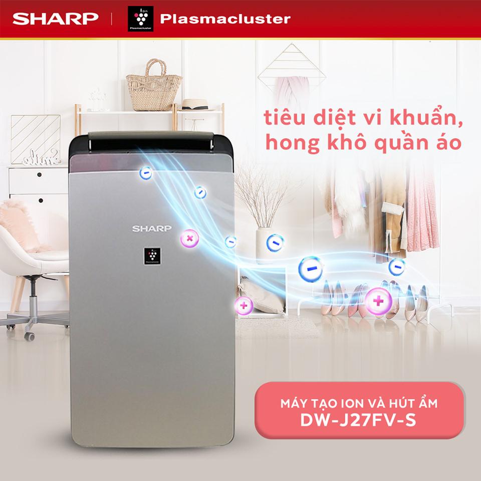 Máy lọc không khi kết hợp hút ẩm Sharp DW-J27FV-S