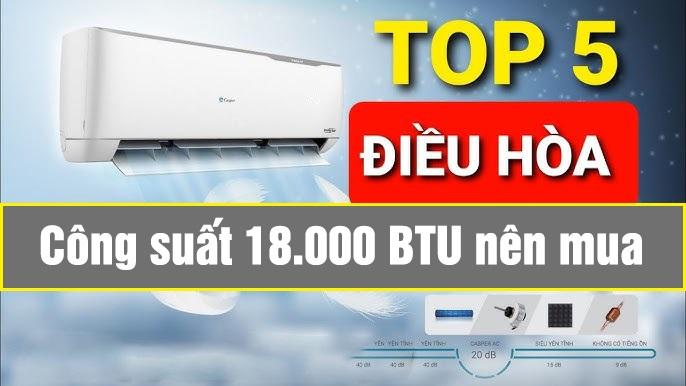Top 5 điều hòa 18000btu giá tốt nhất cho phòng dưới 25m2
