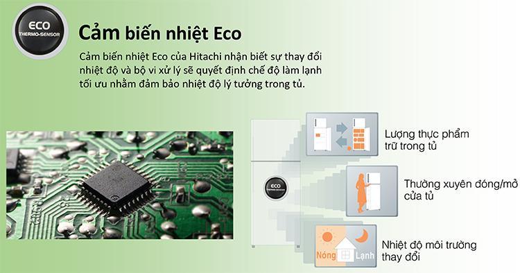 tu-lanh-hitachi-Cảm-biết-Eco-Thermo-Sensor