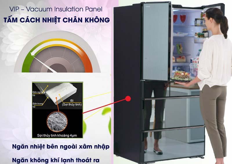 tu-lanh-hitachi-cong-nghe-cach-nhiet-Vacuum Insulation Panel