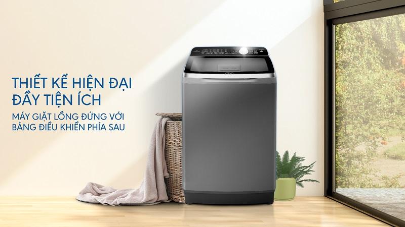 Máy-giặt-Aqua-AQW-DR100ET S-thiết-kế-hiện-đại