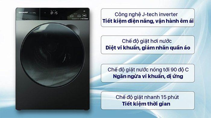 Máy giặt Sharp nhiều công nghệ hiện đại