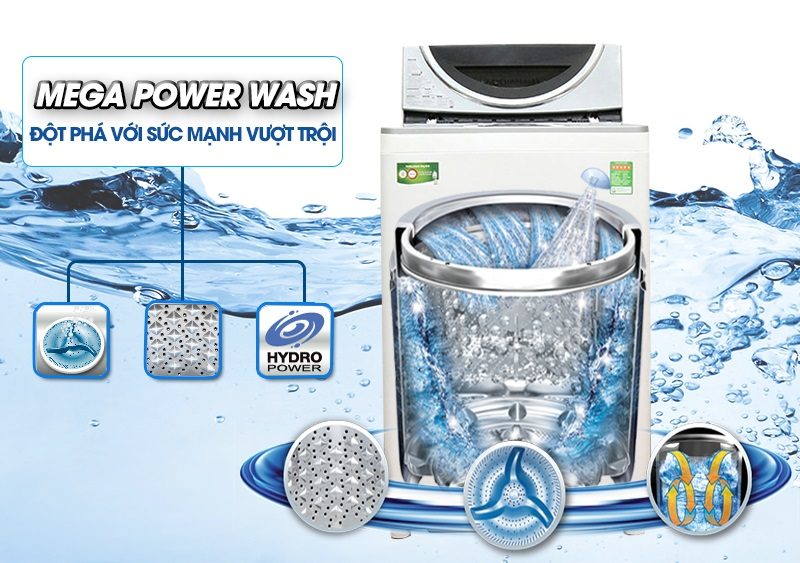 Máy giặt Toshiba công nghệ Mega Power Wash