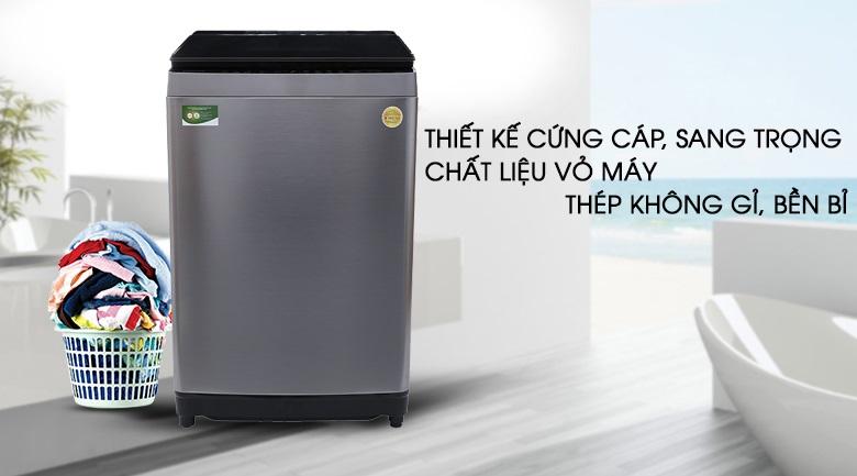 Máy giặt Toshiba vỏ chất liệu thép không gỉ