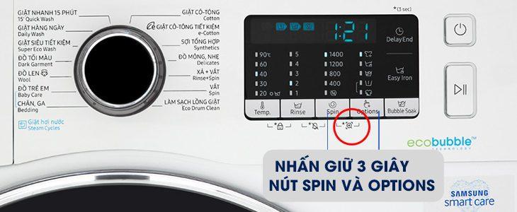 Những tính năng thông minh trên máy giặt Samsung