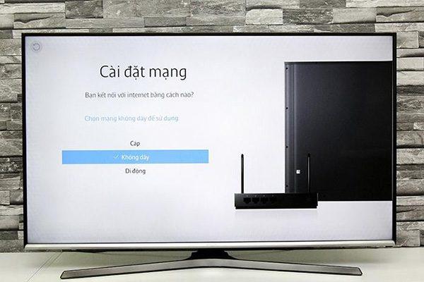 Tivi Samsung không kết nối được với mạng Internet