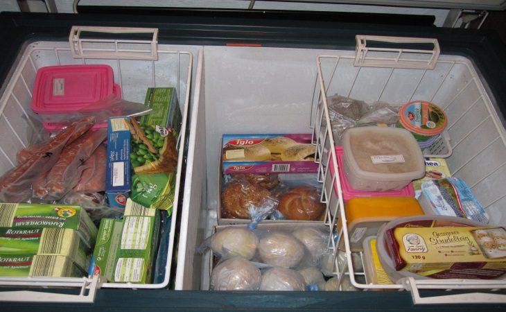 Trong tủ đông lưu trữ những thực phẩm có độ ẩm cao