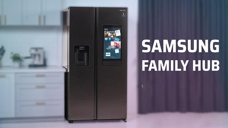 Tủ lạnh Samsung thông minh Family hub thiết kế hiện đại