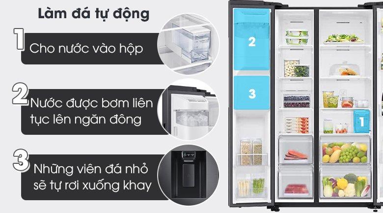 Tủ lạnh Samsung side by side tính năng tiện ích
