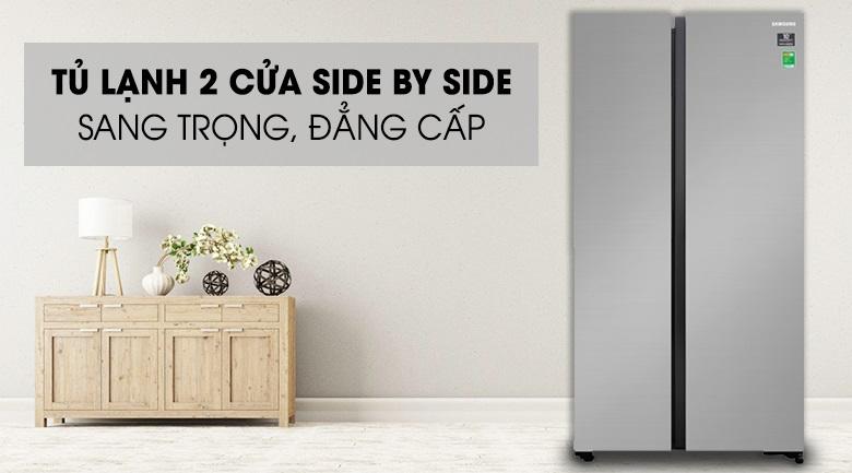 Tủ lạnh side by side Samsung Thiết kế kiểu dáng sang trọng đẳng cấp