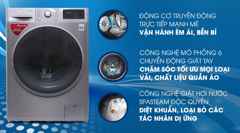 Ưu điểm của máy giặt truyền động trực tiếp