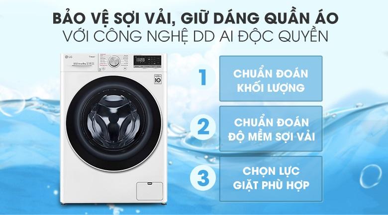 máy giặt lg FV-S2 công nghệ AI DD độc quyền