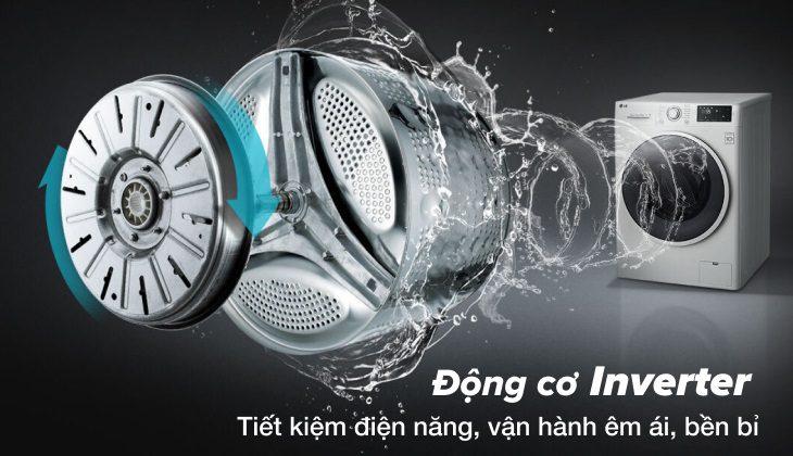 máy giặt lg FV-S2 động cơ inverter