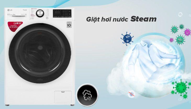 máy giặt lg FV-S2 giặt hơi nước Stream
