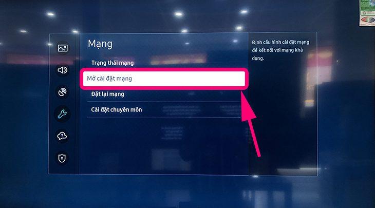 tivi Samsung không kết nối được Wi-Fi 8