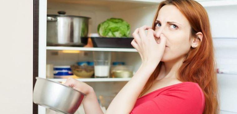 Bên trong tủ lạnh có mùi hôi