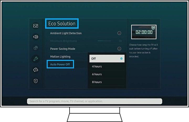 Hướng dẫn bật chế độ Auto power off tivi samsung