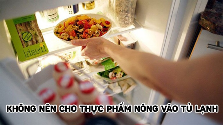 Không nên cho thực phẩm nóng vào tủ lạnh vì sao vậy?