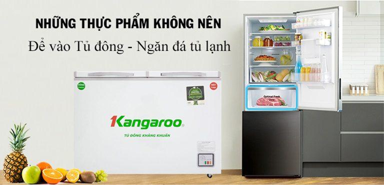 11 thực phẩm không nên bỏ vào tủ đông và ngăn đông của tủ lạnh