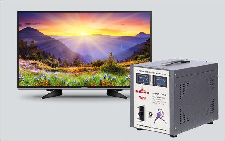 Sử dụng ổn áp hỗ trợ nguồn điện cho tivi