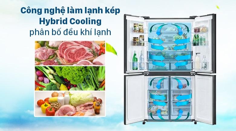 Tủ lạnh Sharp công nghệ làm lạnh kép Hybrid Cooling