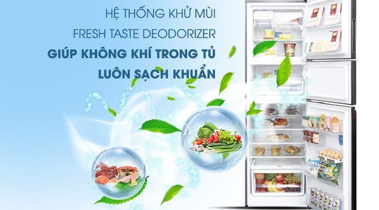 Tủ lạnh Electrolux hệ thống khử mùi Fresh Taste