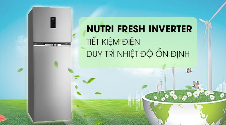 Tủ lạnh Electrolux trang bị công nghệ nutriFresh