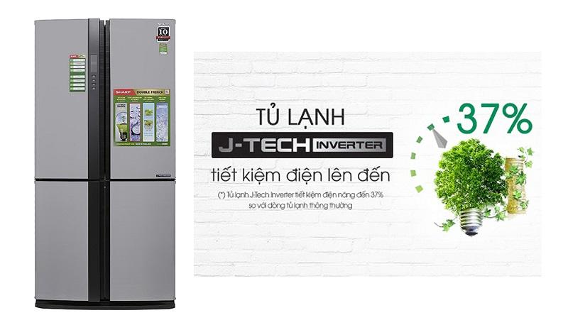 Tủ lạnh Sharp công nghệ điện j-tech tiết kiệm điện