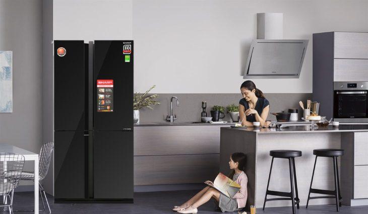 Tủ lạnh Sharp thiết kế hiện đại sang trọng