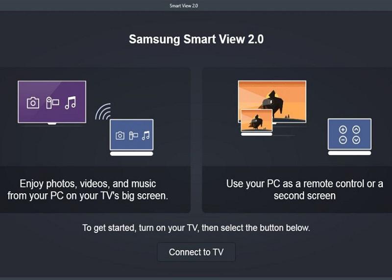 kết nối laptop với tivi Kết nối thông qua Samsung Smart View