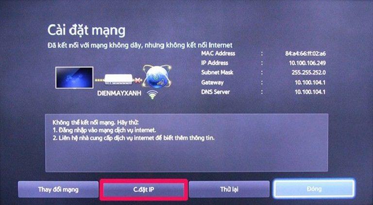 thinh-phat-Cách khắc phục tivi không có kết nối mạng