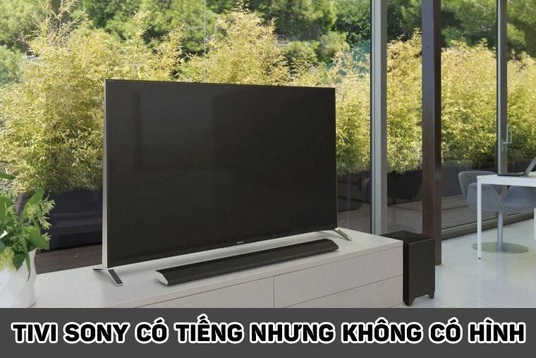 thinh-phat-Tivi Sony có tiếng nhưng không có hình