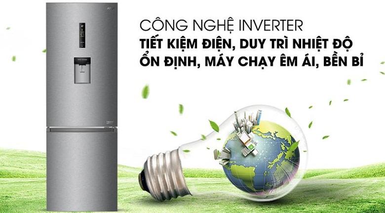 Tủ lạnh Aqua Inverter 288 lít AQR-IW338EB (SW), tiết kiệm điện
