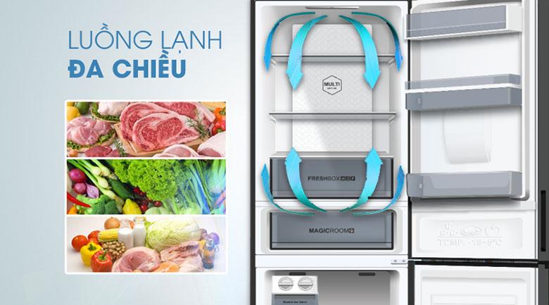 Tủ lạnh Aqua Inverter 320 lít AQR-IW378EB SW, lạnh đa chiều