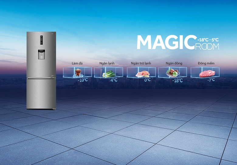Tủ lạnh Aqua Inverter 320 lít AQR-IW378EB SW, chuyển đổi tiện lợi