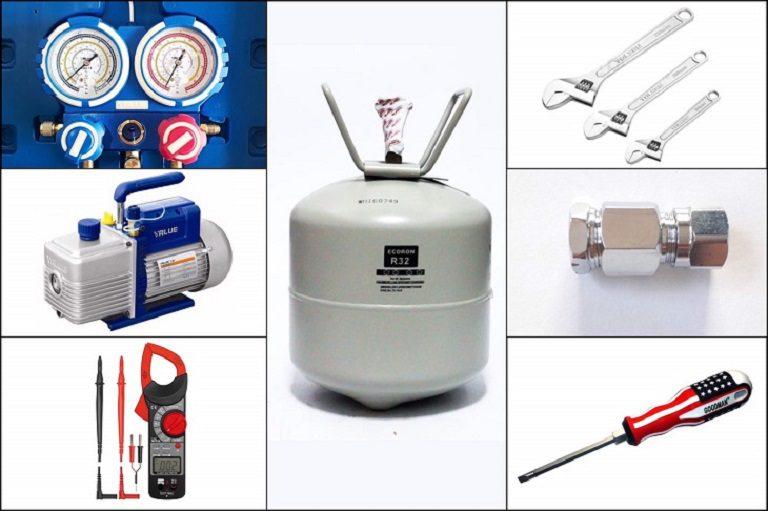 thinh-phat-Chuẩn bị đầy đủ dụng cụ nạp gas điều hòa
